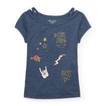 The Children's Place Big Girls' Short Sleeve Fashion Top