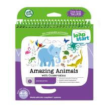 LeapFrog LeapStart Kindergarten Activity Book: Amazing Animals and Conservation, Great Gift for Kids, Toddlers, Toy for Boys and Girls, Ages 4, 5, 6