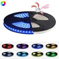 Indoor Outdoor Waterproof LED Strip Light RGB, Super Bright Dimmable Color Changing 110V Flex LED Light Strip Kit 32.8FT/10M IP65 with Remote for Home Business Lighting Decor, 60 LEDs/Meter SMD5050