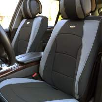 FH Group PU205GRAYBLACK102 Gray/Black Ultra Comfort Leatherette Front Seat Cushion (Airbag Compatible)