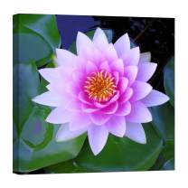 LightFairy Wall Art for Living Room - Glow in The Dark Canvas Painting - Stretched and Framed Giclee Print - Flower Plant Bloom Blooming Blossom - Wall Decorations for Bedroom - 24 x 24 inch