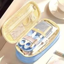 Oyachic Telescopic Pencil Case Large Capacity Zipper Pen Bag Canvas Makeup Stationery Box Office School Supplies Pouch (Blue)