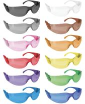 SAFE HANDLER Full Color Safety Glasses | One Size, Adult, Teens, Youth, Protective Polycarbonate Lens, 12 Full Color Variety Pack, 12 per Box (1 box/12 Pairs)