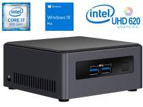 Intel NUC NUC7i7DNHE Mini PC/HTPC, Intel Quad-Core i7-8650U Upto 4.2GHz, 8GB DDR4, 1TB NVMe SSD, 4k Support, Dual Monitor Capable, WiFi, Bluetooth, Windows 10 Pro 64Bit
