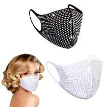 Woplagyreat 2Pcs Designer Face Cover for Women Men, Fashionable & Anti Dust (Multicolor)