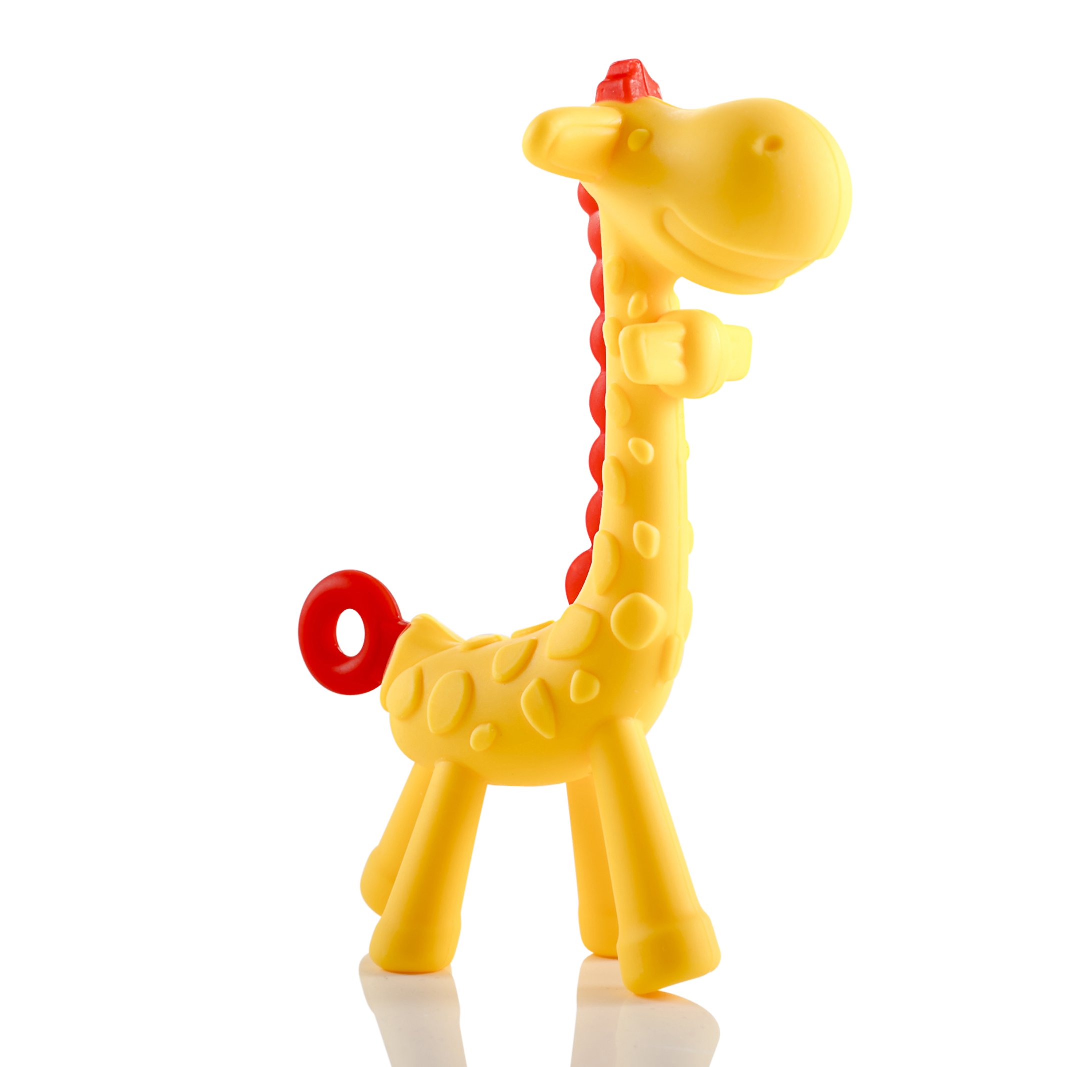 Giraffe Baby Teether Toy | Natural & Organic BPA-Free Silicone | Textured Infant Teething Relief | Freezable and Dishwasher-Safe | Cute Chew Toys for Boys, Girls, Babies, Toddlers, Newborn