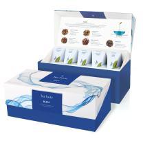 Tea Forte Bleu Butterfly Pea Flower Tea Presentation Box Tea Sampler Gift Set, 20 Assorted Variety Handcrafted Pyramid Tea Infuser Bags, Blue Herbal Tea