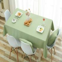 HSYLYM Table Cloth Cotton Linen Fabric Heavy Weight Party Tablecloth for Rectangle Tables,Grass,52x95in(132x240cm)