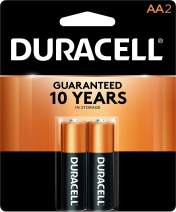 Duracell - CopperTop AA Alkaline Batteries - long lasting, all-purpose Double A battery for household and business - 2 Count