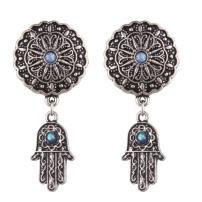TOPBRIGHT 2PCS Popular Dangle Pendant Piercing Jewelry Opal Surgical Steel Ear Plugs Tunnels Gauges