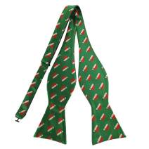 PenSee Mens Christmas Patteren Bowtie Jacquard Woven Bow Ties for Gift