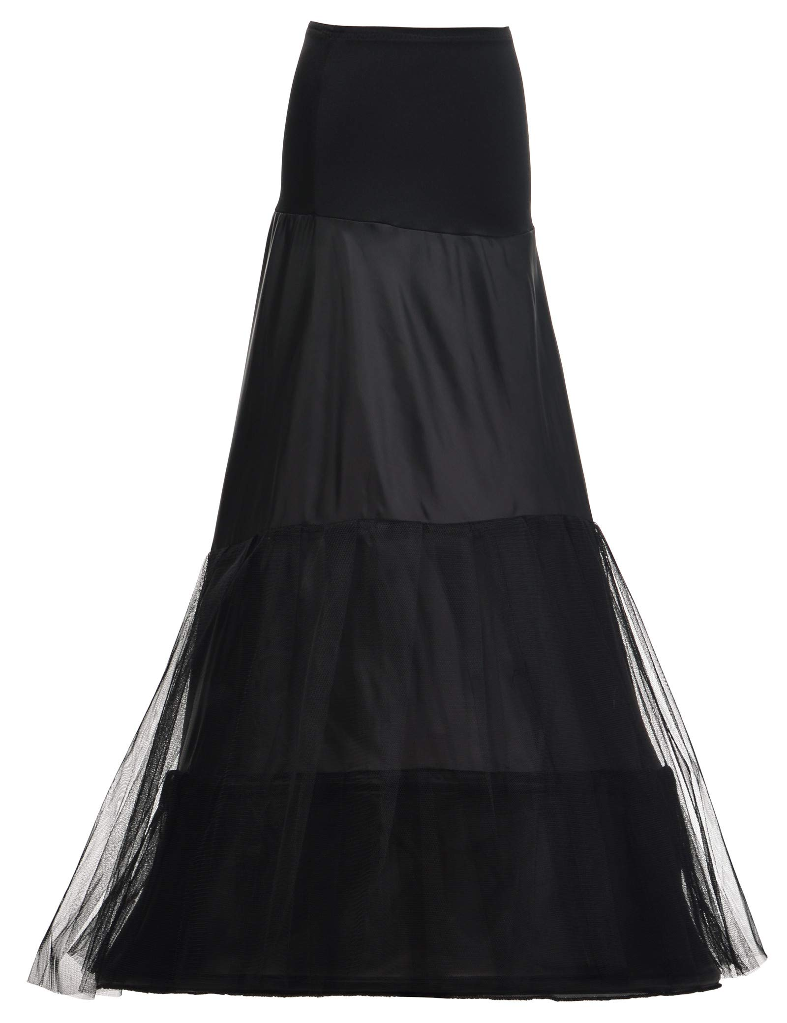 Remedios Women's Mermaid Fishtail Crinoline Petticoat Floor Length Wedding Underskirt Half Slip