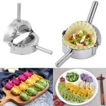 OSLAMP 4.7'' Dumpling Maker Empanada Press Pierogi Maker Dumpling Mold Set Cutter Pie Ravioli Press Pastry Tool Stainless Steel Kitchen Accessories