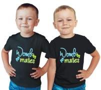 Nursery Decals and More Twin Boys Matching Shirts, Tshirts for Twins, Twin Boys Outfits, Includes 2 Shirts