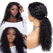 Lovely Queen Glueless Lace Front Wigs BrazilianDeepWaveHuman Hair Wig with Baby Hair Natural Hairline Lace Front Human Hair Wigs For Black Women 150Density (18inch)