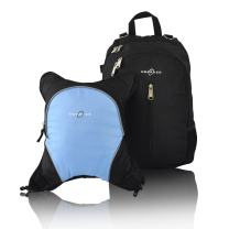 Rio Diaper Backpack with Baby Bottle Cooler and Changing Mat, Shoulder Baby Bag, Food Cooler, Clip to Stroller (Black/Cloud) - Obersee