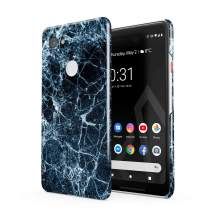BURGA Phone Case Compatible with Google Pixel 2XL Case Dark Ice Blue and Black Marble Cute Case for Girls Thin Design Durable Hard Shell Plastic Protective Case