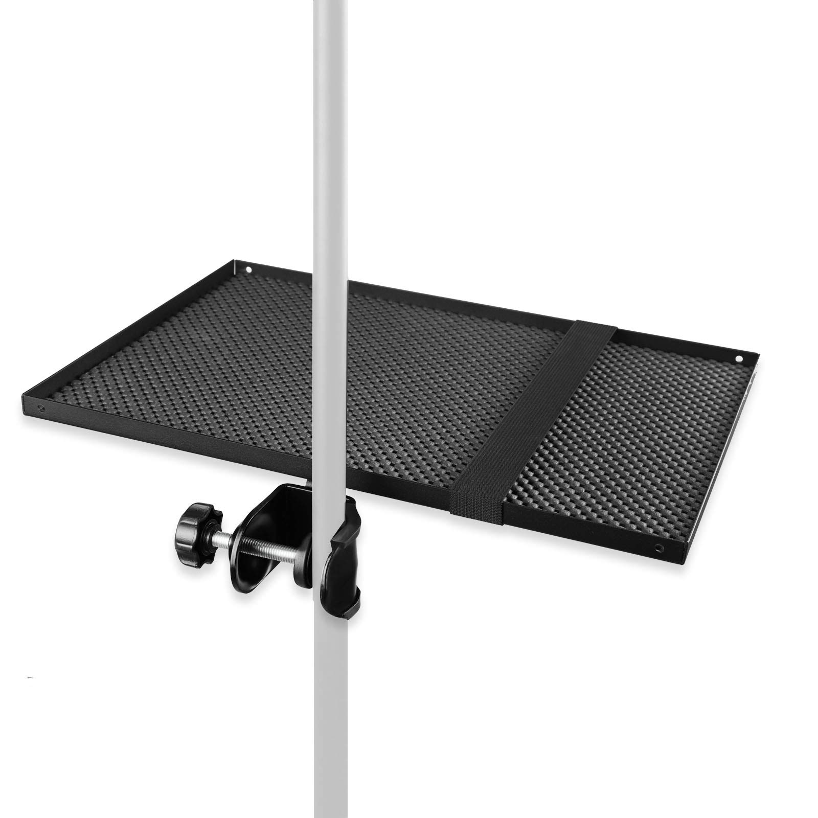 "Mr.Power Microphone Stand Rack Tray Holder 13"" x 9"" for Stage, Live Streaming, Recording"