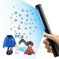 SWIFF Portable UV Sterilizer Travel UV Light Sanitizer Wand UV Germicidal Lamp Handheld Disinfection Lamp Wand Cleaner for Clothing Kitchen Wardrobe Toilet Lift Car Pet Area