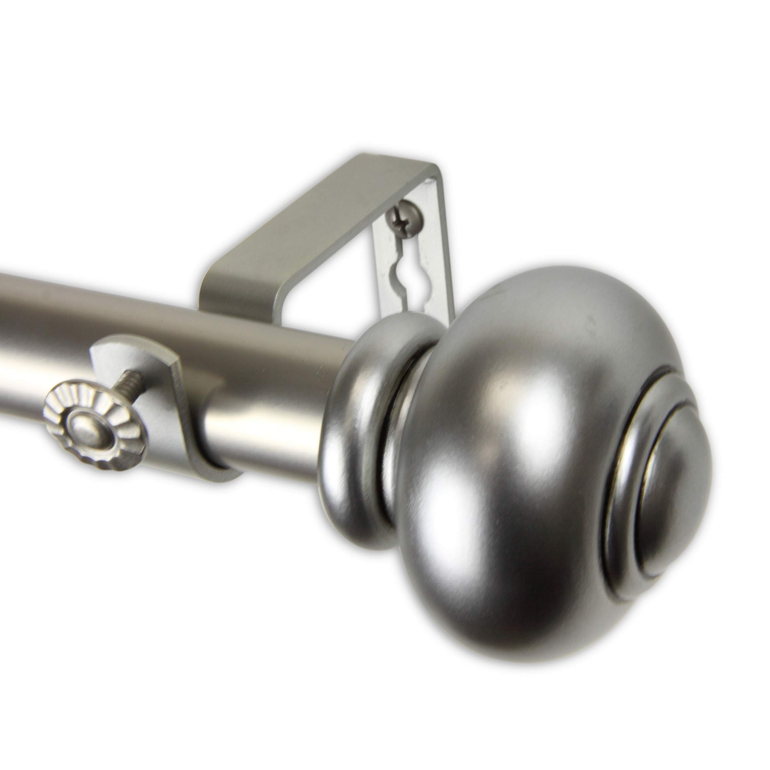 "Rod Desyne 1"" Rotunda Curtain Rod, 120-170 inch, Satin Nickel"