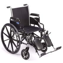 "Invacare Tracer SX5 Wheelchair, with Desk Length Arms and T94HCP Elevating Legrests with Padded Calf Pads, 16"" Seat Width"