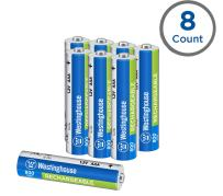 Westinghouse 800mAh NH Rechargeable Batteries, 5 Years Low self Discharge, 2000 Times Cycle Life, Free Battery Storage Box (AAA, 8 Counts)