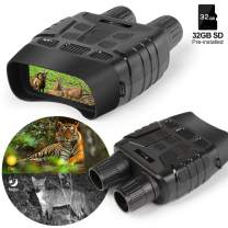 "Night Vision Goggles Binoculars for Hunting, 2.31""TFT LCD Screen, 4X Digital Zoom 700FT Viewing Range, Clear in Full Darkness, Support Video Recording&Picture, SD Card(32GB) Included."