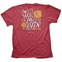 Cherished Girl Women's Y'all Need Jesus T-Shirt - Heather Red -