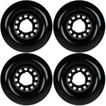 TGM Skateboards Longboard Wheels 76mm Smooth Black Spider Hub USA Made 78A