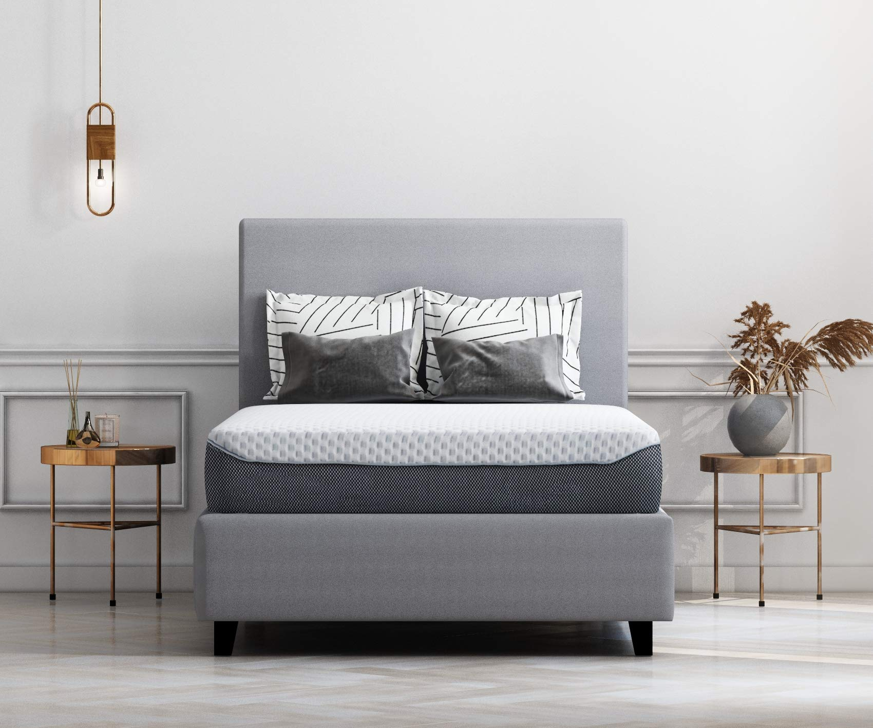 Ashley Furniture Signature Design - 10 Inch Chime Elite Mattress - Full Size - White & Blue