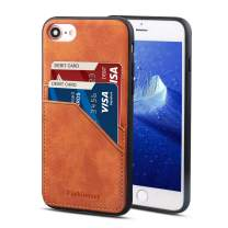 """Fashioneey iPhone SE Case 2020, iPhone 7/8 Leather Card Holder Case, Ultra Slim Professional Cover with 2 Card Holder Slots Compatible 2020 iPhone SE iPhone 7/8 (2017) 4.7"""" Versions"""