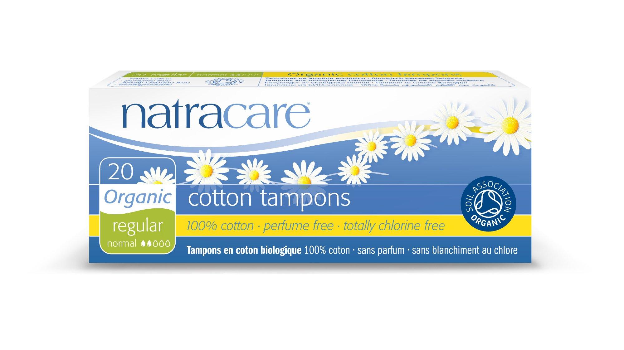 Natracare, Organic Regular Tampons, 20 Count