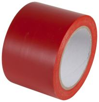 INCOM Manufacturing: PST312XL PVC Vinyl Safety Aisle/Pipe Marking Conformable Durable Color Coding Abrasion Resistant Tape, 3 inch x 180 ft, Safety Red - Ideal for Walls, Floors, Equipment