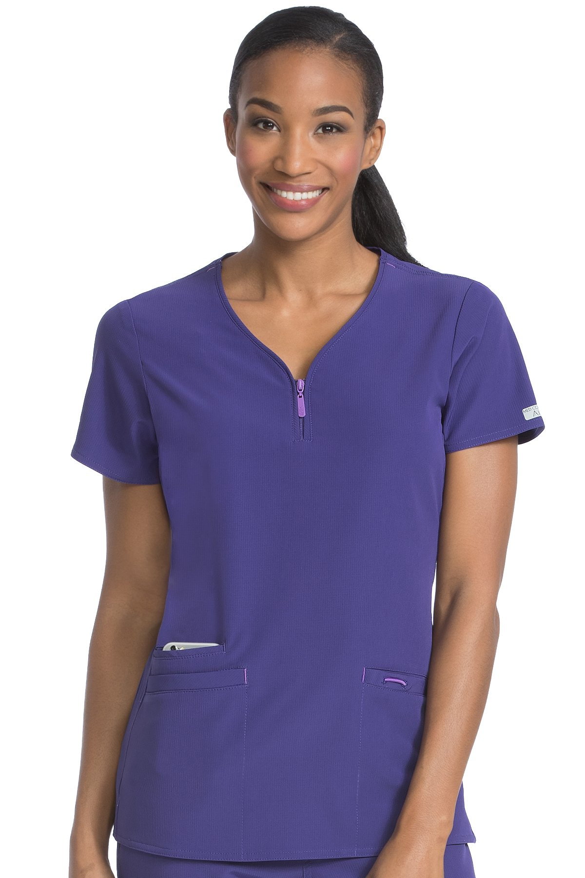 Med Couture Women's 'Air Collection' Front Zip Zippity Scrub Top