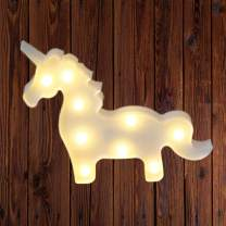 Unicorn Design Marquee Sign Lights, LED Night Light Table Lamp Marquee Letter Lights Unicorn Shape Signs Light Up Christmas Party Home Decoration Battery Operated