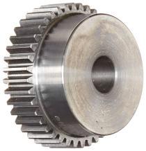 "Boston Gear YA50A Spur Gear, Steel, Inch, 20 Pitch, 0.500"" Bore, 2.600"" OD, 0.500"" Face Width, 50 Teeth"