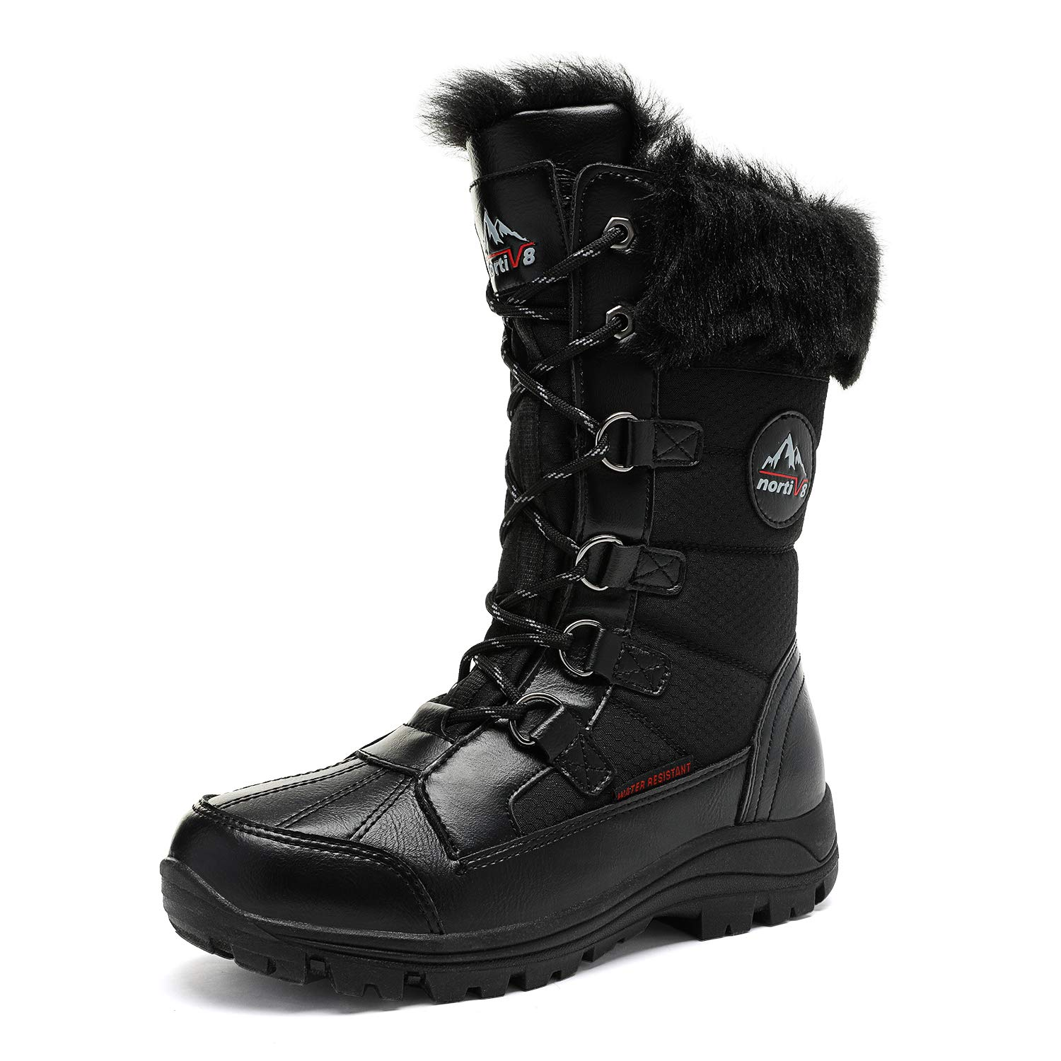 NORTIV 8 Women's Mid Calf Insulated Winter Snow Boots