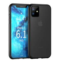 ZtotopCase for iPhone 11, Translucent Matte Hard PC Back Cover and Soft TPU Edges Shockproof Anti-Drop Protective Case for iPhone 11 6.1 Inch 2019, Black