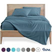 Bare Home Twin XL Sheet Set - College Dorm Size - Premium 1800 Ultra-Soft Microfiber Sheets Twin Extra Long - Double Brushed - Hypoallergenic - Wrinkle Resistant (Twin XL, Coronet Blue)