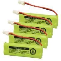 QBLPOWER BT183482 BT283482 Battery Compatible with Vtech DS6401 DS6421 DS6422 DS6472 LS6405 LS6425 LS6426 LS6475 LS6476 89-1348-01-00 Cordless Phone Handset(4 Pack)
