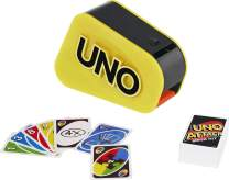 Mattel Games Uno Attack Mega Hit Card Game with Random-Action Launcher with Lights & Sounds & 112 Cards, Kid, Teen & Adult Game Night Gift Ages 7 Years & Older
