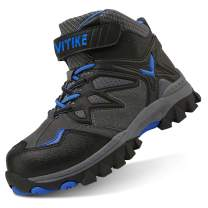 VITIKE Little/Big Kids Mid Waterproof Snow Boots Ankle High Top Winter Shoes