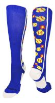 MadSportsStuff Softball Bomber Over The Calf Socks (Multiple Colors)