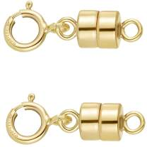 VIOSI Magnetic Necklace Clasps and Closures - Chain Extender Jewelry Clasp Converter - 14K Yellow Gold, Yellow Gold Filled or Sterling Silver