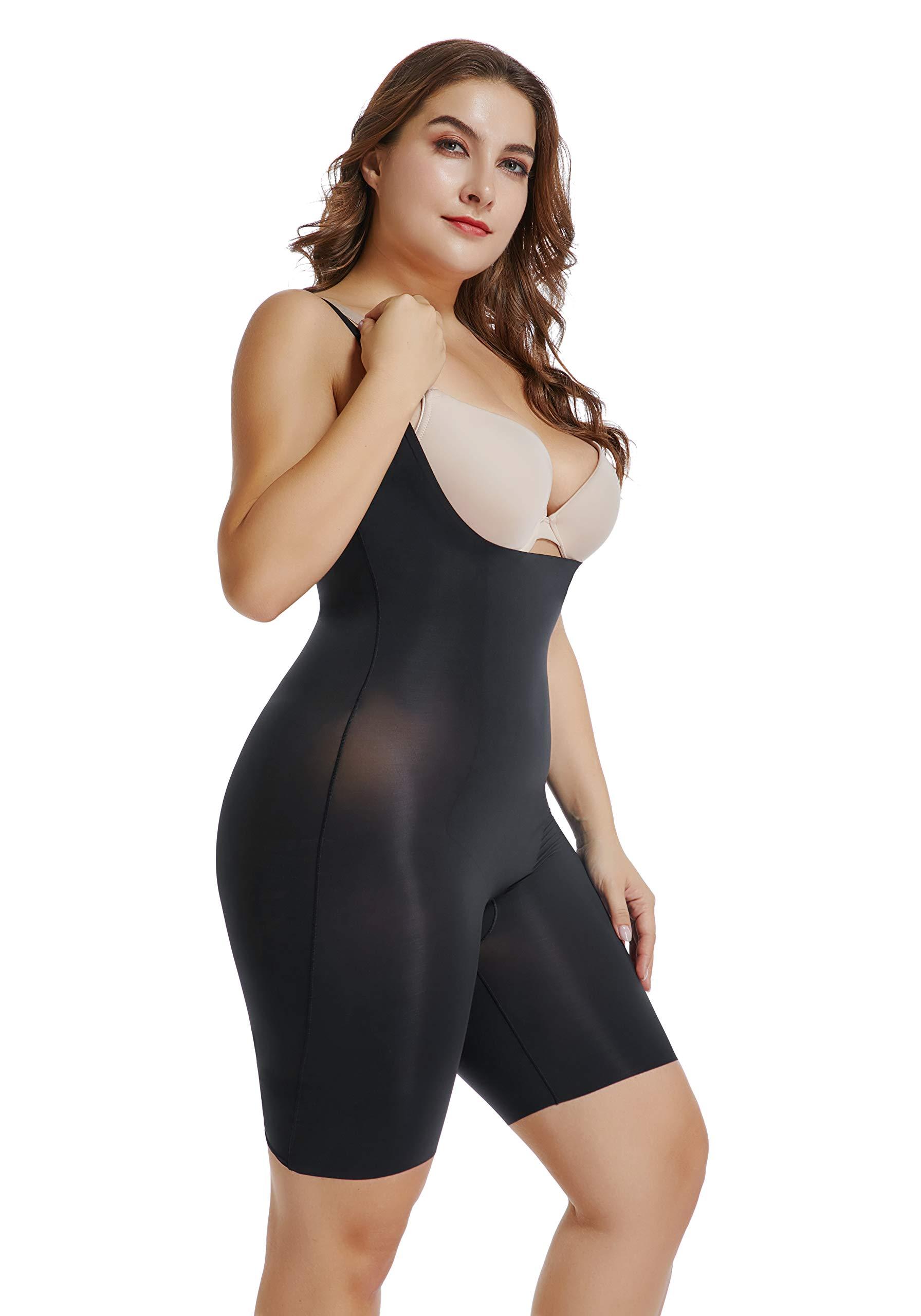 Joyshaper Thin Slimming Bodysuit High Waist Full Body Shaper Open Bust Tummy Control Shapewear for Women Plus Size
