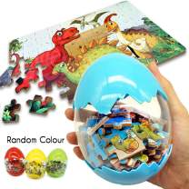 BEESTECH Giant Dinosaur Puzzle Egg, Dinosaur Puzzles for Kids Ages 3,4,5,6,7,8 Years Old, 60 Pieces Mini Jigsaw Puzzles for Kids Age 4-8, Surprise Egg, Dinosaur Egg Toys for Toddlers