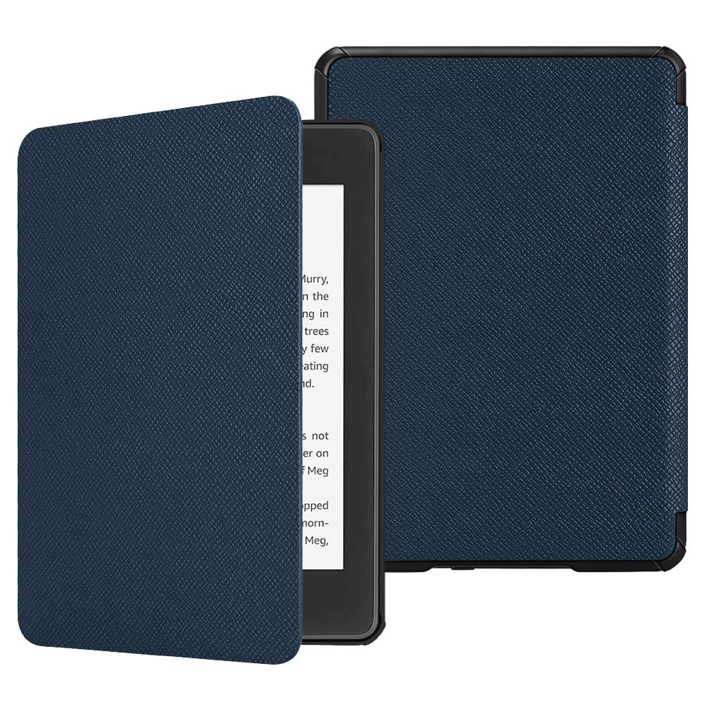 Fintie Slimshell Case for All-New Kindle Paperwhite (10th Generation, 2018 Release) - Premium Lightweight PU Leather Cover with Auto Sleep/Wake for Amazon Kindle Paperwhite E-Reader, Navy