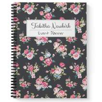 """Night Blooms Personalized Notebook/Journal, Laminated Soft Cover, 120 College Ruled pages, lay flat wire-o spiral. Size: 8.5"""" x 11"""". Made in the USA"""
