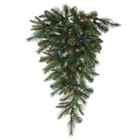 Vickerman Cashmere Artificial Teardrop with 50 Multi-Colored LED Lights, 48""
