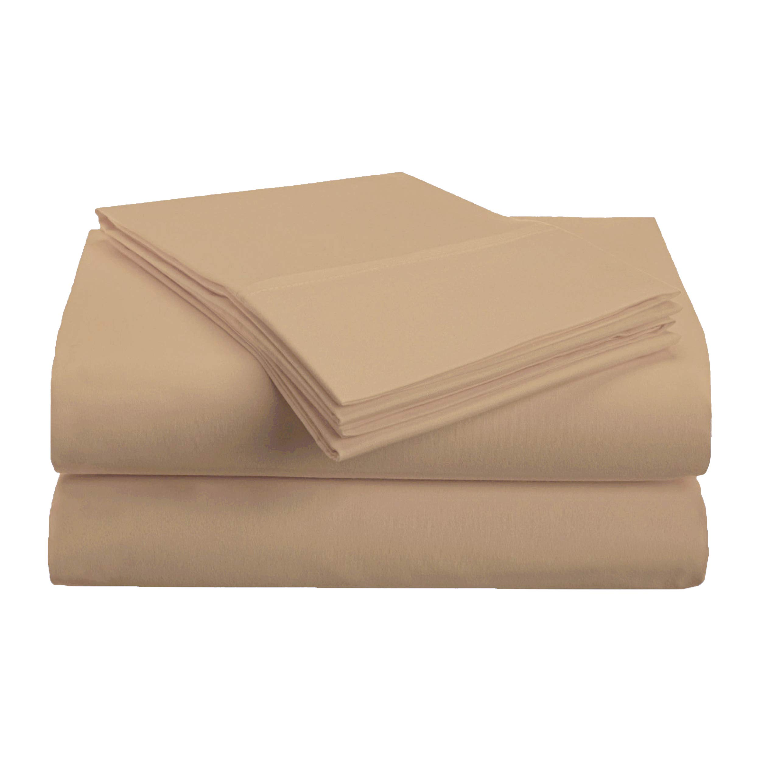 Superior 1500 Series Premium Quality 100% Brushed Soft Microfiber 3-Piece Luxury Deep Pocket Cooling Bed Sheet Set, Hypoallergenic, Wrinkle and Stain Resistant - Twin XL, Taupe